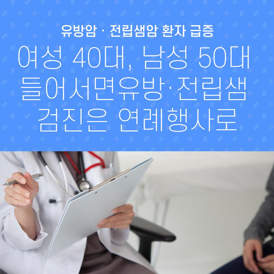 여성 40대, 남성 50대 들어서면 유방·전립샘 검진은 연례행사로